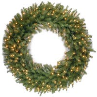 48-inch Norwood Fir Wreath with Warm White LED Lights