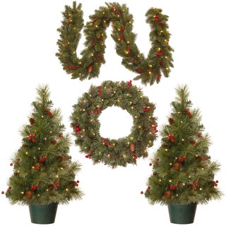 Link to National Tree Company Christmas Cones and Berries Promotional Assortment with Battery Operated LED Lights Similar Items in Christmas Greenery