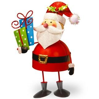 Metal 10-inch Bobble Santa