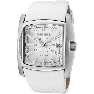 Diesel Unisex DZ1406 'Not So Basic' White Leather Watch