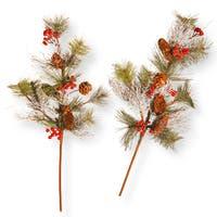 26-inch Pine Cone Branch Spray Set