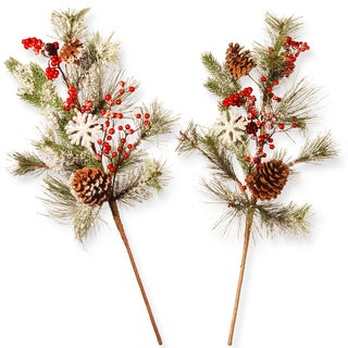 26-inch Holiday Branch Spray Set