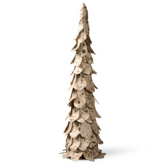 Earth Tone Paper and Poly-foam 30-inch Christmas Tree Decoration
