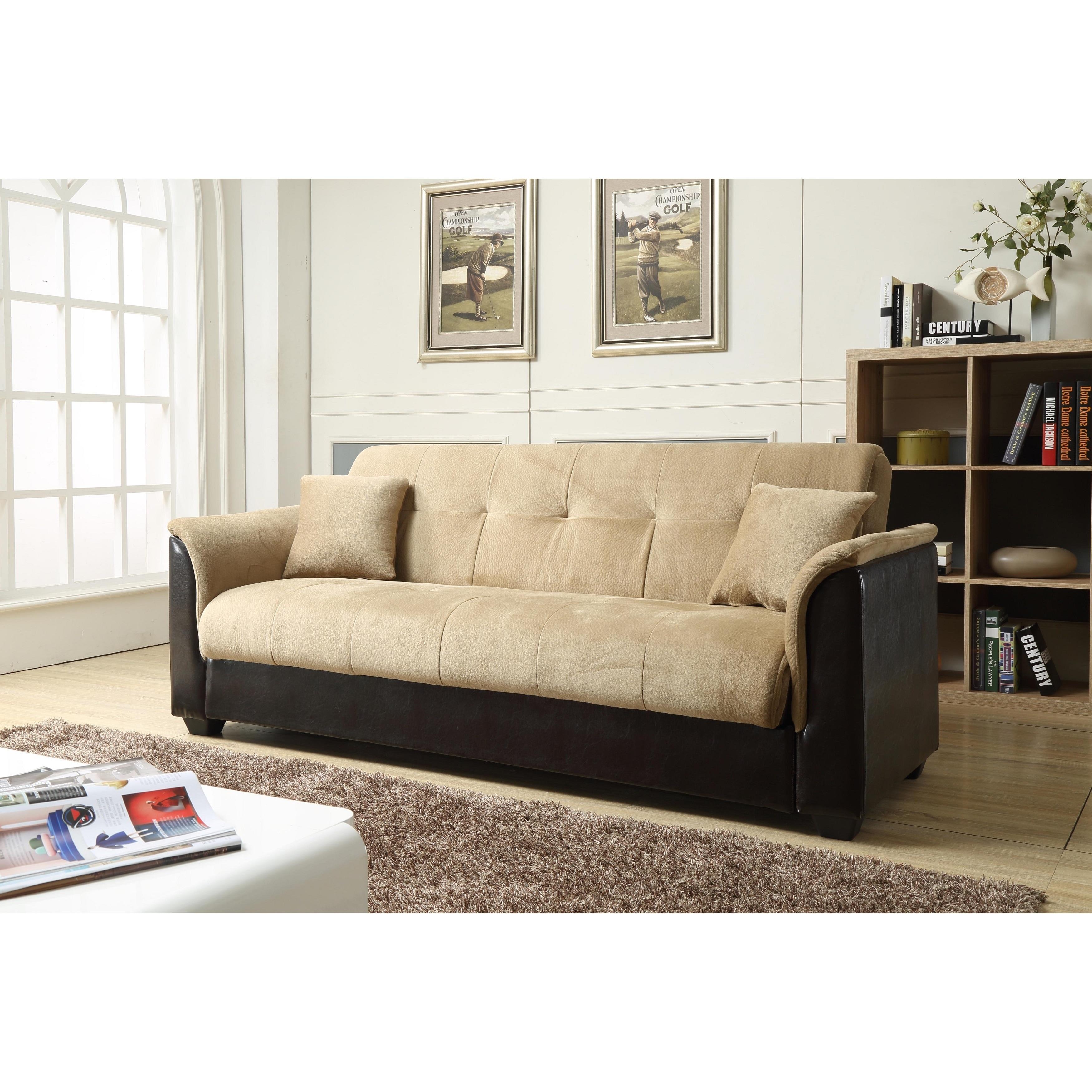 Nathanial Home Melanie Champion Storage Futon Sofa Bed Overstock 12494304