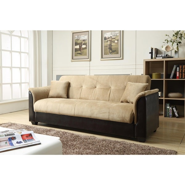 Nathanial Home Melanie Champion Storage Futon Sofa Bed