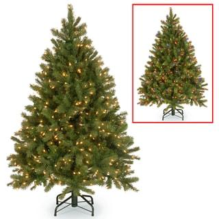 4.5-foot Downswept Douglas Fir Tree with Dual Color LED Lights