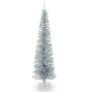 6.5-foot Decorator's Slim Silver Tinsel Tree