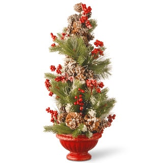26-inch Faux Evergreen Holiday Tree