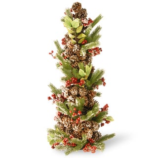 Multicolored 33-inch Decorated Artifiical Holiday Tree