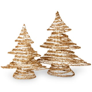 Rattan Christmas Tree Set
