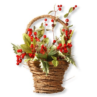 16-inch Holiday Basket Wall Piece