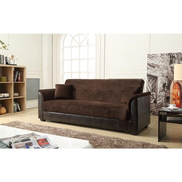 Nathanial Home Melanie Brown Champion Storage Futon Sofa Bed