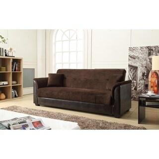 Nathanial Home Melanie Brown Champion Storage Futon Sofa Bed