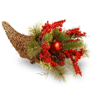 20-inch Holiday Cornucopia Basket