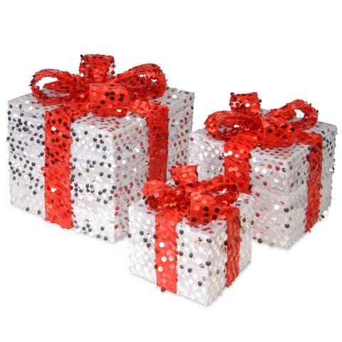 Red Mesh 3-piece Sequin Gift Box Assortment