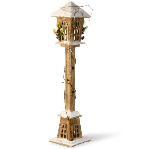 32-inch Wooden Street Lamp