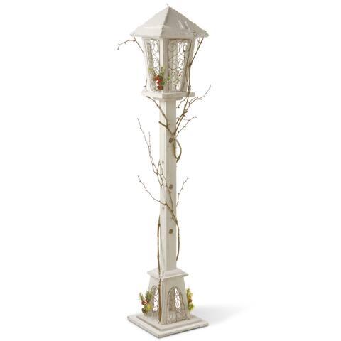 White Wood 47-inch Decortative Street Lamp