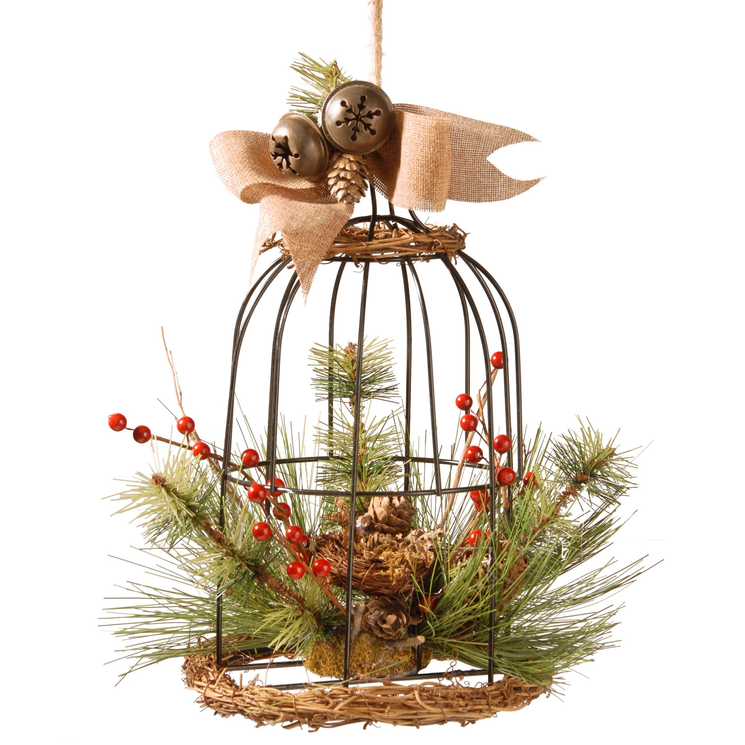 National Tree 13-inch Bird Cage Decor (Brown) (Plastic)