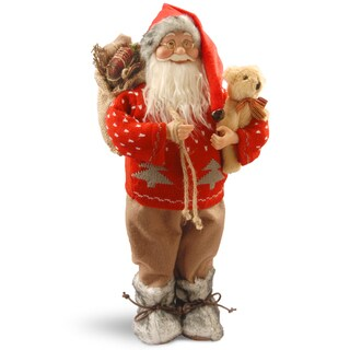 Red 17.7-inch Standing Santa