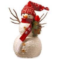 Fabric 19-inch Snowman Decoration