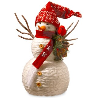 Fabric 19-inch Snowman Decoration