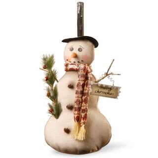 Fabric 20-inch Snowman Figurine