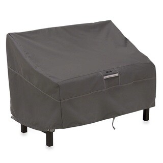 Ravenna Grey Polyester Patio Bench Cover