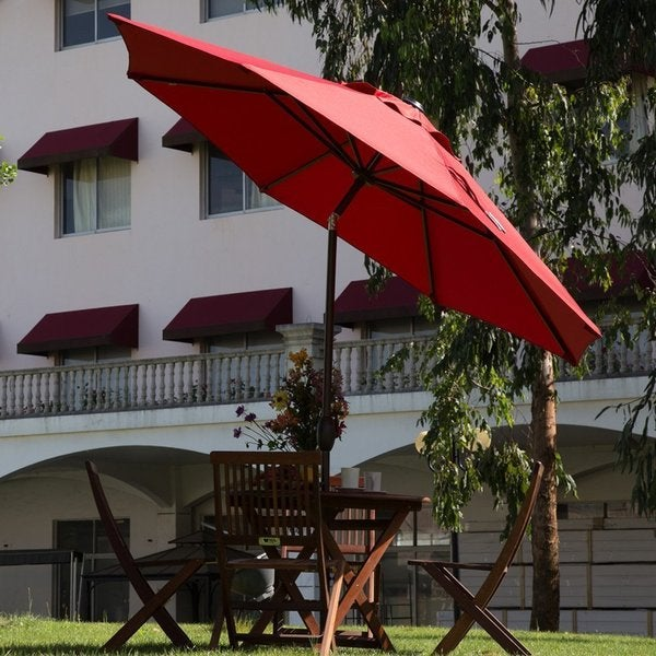 Havenside Home Aillik 11 Foot Octagon Patio Umbrella With Adjule Tilt Aluminum Frame