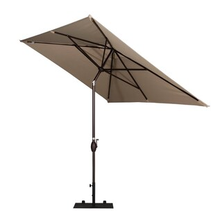 Abba Patio 6.6-foot by 9.8-foot Rectangular Market Outdoor Table Patio Umbrella with Push-button Tilt and Crank (Option: Beige)