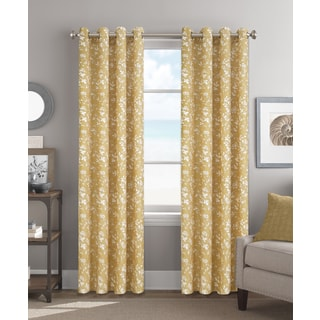 Colordrift Anne Yellow 84-inch Grommet-top Single Curtain Panel
