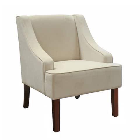 Porch & Den Lyric Velvet Swoop Arm Accent Chair