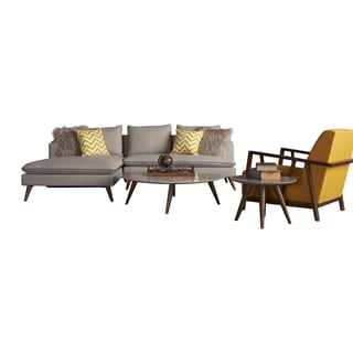 Marco 5-piece Gold Accent Living Set