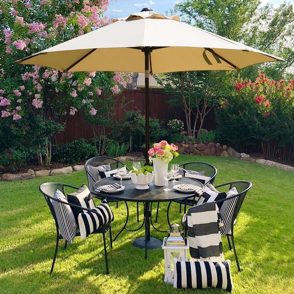 ABBA Patio Table Umbrella (9 Ft, Beige), Size 9-foot (Pol...
