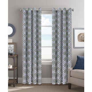 Colordrift Erica Multicolor Polyester 84-inch Grommet-top Single Curtain Panel