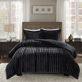 Madison Park York Faux Fur Comforter Mini Set