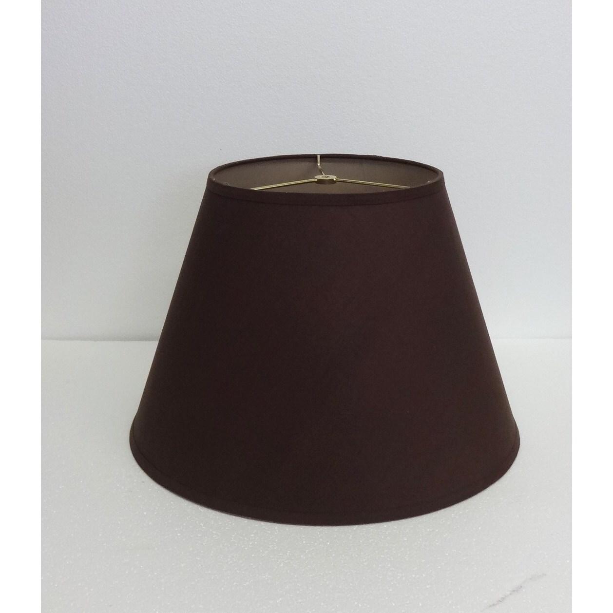 Chocolate Brown Fabric Paper Round Hardback Shade