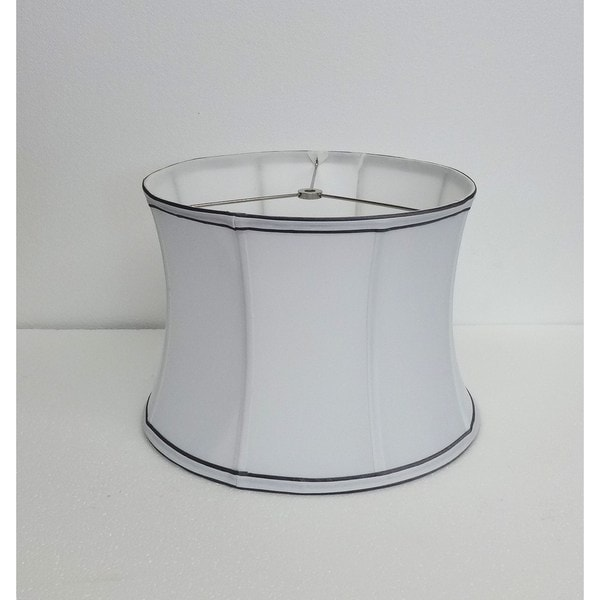 Contoured Drum White Silk Shade