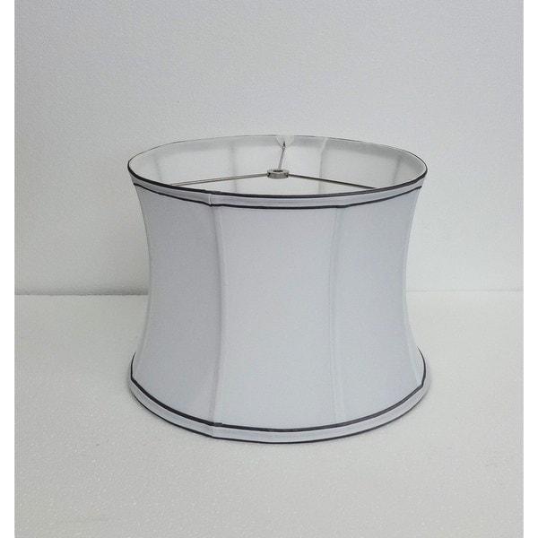 Contoured Drum White Silk Shade
