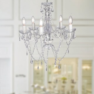 Warehouse of Tiffany Ealasaid Clear Acrylic 5-light 20-inch Chandelier