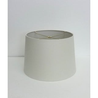 White Fabric Medium Round Drum-style Lampshade