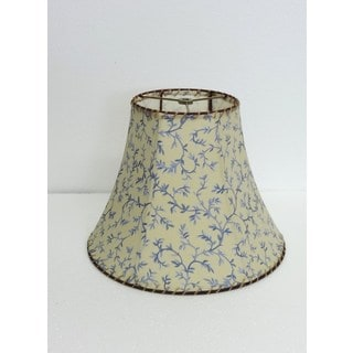 French Provencal Leaves Silk Lampshade