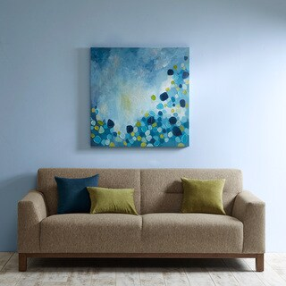 INK+IVY Cool Blue Bounce Printed and Hand-embellished Canvas