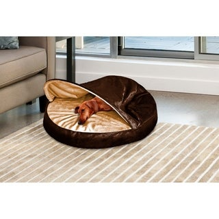 FurHaven Microvelvet Snuggery Burrow Pet Bed