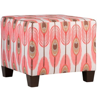Skyline Furniture Feathers Bittersweet Slub Square Ottoman