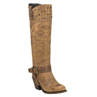 Black Star Regulus Tan Women's Leather Fashion Western Boots