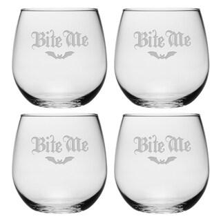 Bite Me Stemless Wine Glass (Set of 4)