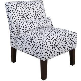 Skyline Furniture Black/White Polyurethane Armless Slipper Chair
