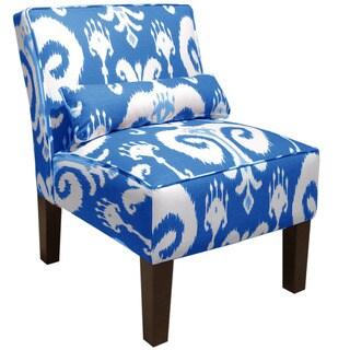 Skyline Furniture Himalaya Porcelain Blue Armless Slipper Chair