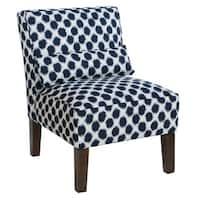 Skyline Furniture Indigo Polyester Shibori Armless Chair
