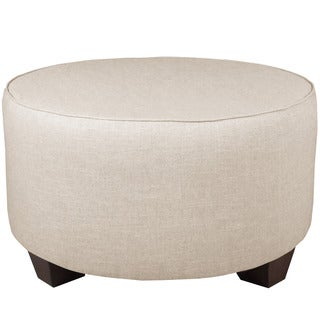 Skyline Furniture Linen Talc Round Cocktail Ottoman